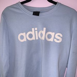 light blue adidas long sleeve sweater